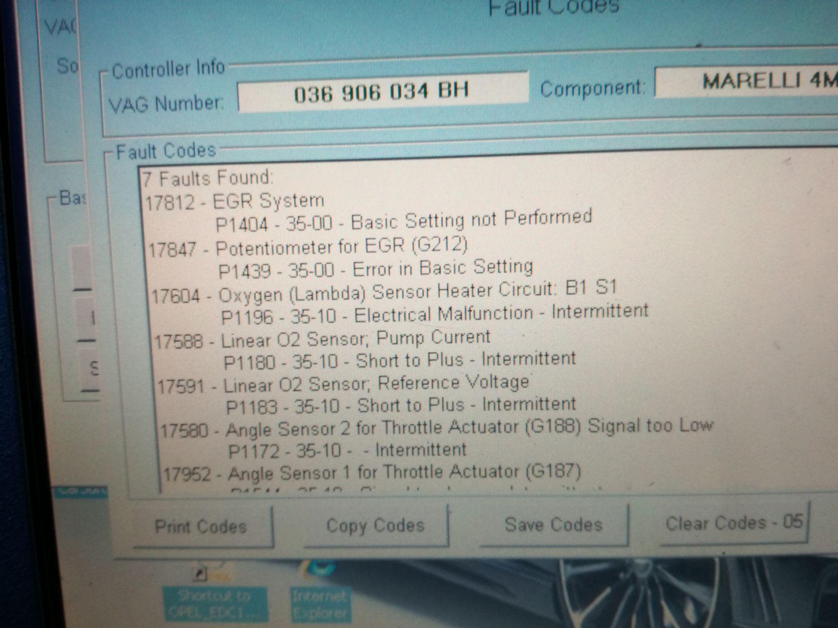 Scanarea cu VCDS - coduri de eroare - Page 273 - Motoare pe benzina