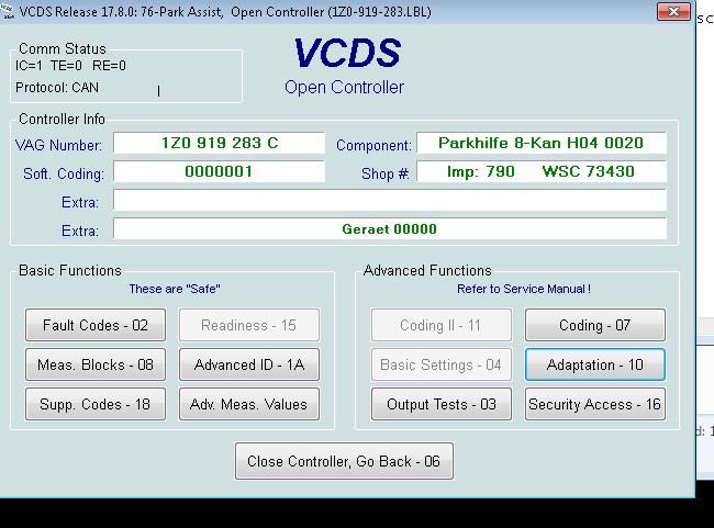 Codari diverse/Setări Vag-Com Octavia2 - Page 73 - Octavia 2